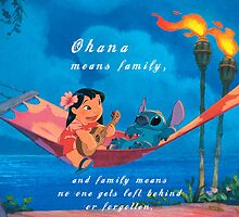 Lilo & Stitch Ohana Means Family by N1K0VE
