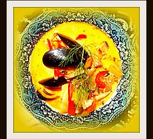 Nova Scotia Seafood Chowder Framed by ©The Creative  Minds