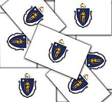Smartphone Case - State Flag of Massachusetts - Multiple by Mark Podger