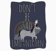 Don't Be Sad Emo Unicorn by mytshirtfort