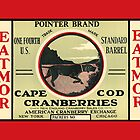 Vintage Cranberry Label Pointer dog by LABELSTONE