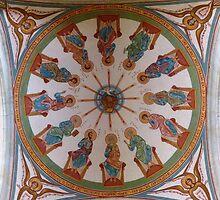 Église Saint Nazaire - Under the Dome by Trish Meyer