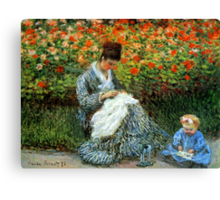 Madame Monet 3-D Redux Canvas Print