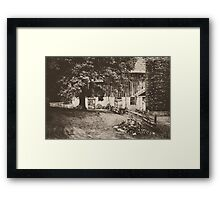Down the road, Around the bend Framed Print