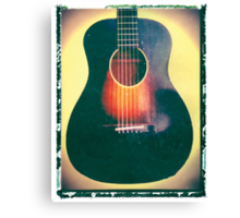 Gibson guitar art print J-45 photographic print music wall decor Canvas Print