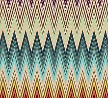 Zig Zag Striped Pattern by LABELSTONE