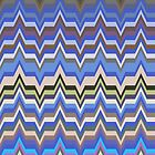 Missoni Blue Zig Zag Pattern by LABELSTONE
