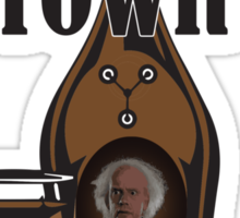 Doc Brown's Great Scotch Sticker