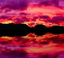Red Sky at Night, Irene is in Sight . . . by Tim Scullion