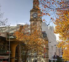 A Quiet Sunday Morning in Bourke Street by Christine Smith