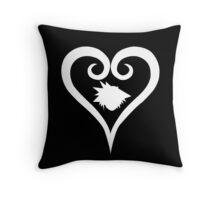 Sora Heart - White (Kingdom Hearts) Throw Pillow