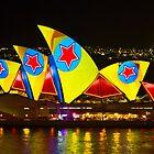 Star Sails - Sydney Vivid Festival - Sydney Opera House by Bryan Freeman