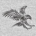 Bird of Prey - TribalTattoo \ black edit by scatharis
