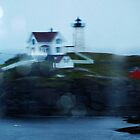 Nubble in the Rain by Bine