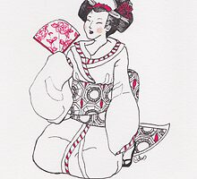 Kneeling Rose Geisha by Toryfox