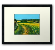 Downland Gold Framed Print
