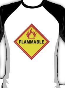flammable waring signal T-Shirt