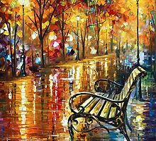Memories - Oil painting on Canvas By Leonid Afremov by Leonid  Afremov