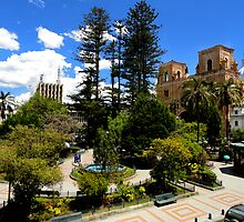Magnificent Center of Cuenca Ecuador by Al Bourassa