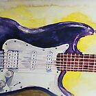 Guitar Watercolor by ArtLuver