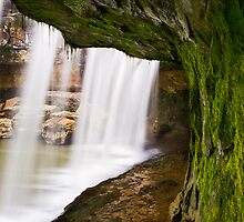 Beneath the Waterfall by Kenneth Keifer
