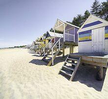 Beach Huts at Wells by Rob Hawkins