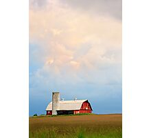 Barn and Evening Sky Photographic Print