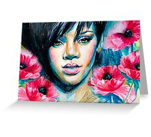 Rihanna Greeting Card