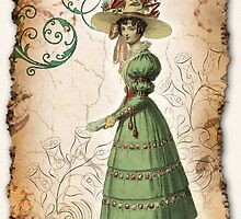 Regency Fashion Print - Carriage Costume by ShinyDesigns
