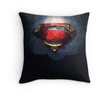 Superman - Man of Steel logo Throw Pillow