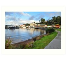 The Town Of Strahan. Art Print
