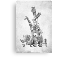 The Clockwork Menagerie (Silver) Canvas Print