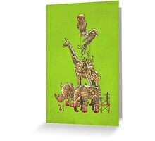 The Clockwork Menagerie (Lime) Greeting Card