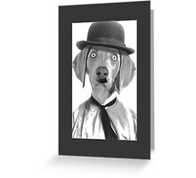 Haha i am Charlie Chaplin Greeting Card