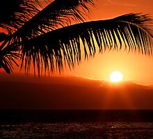 Kona sunset by Raymond Cooper