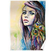 Peacock Girl Poster