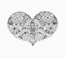 'Paisley Heart - Black' by STUDIO 88 TARANAKI NZ
