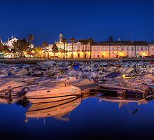 Faro Marina at Night by manateevoyager