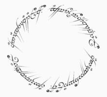 lord of the rings inscription by killerkillick