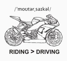 Riding is Greater Than Driving Sportbike by strayfoto