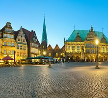 Panorama of Bremen Market Square,  Germany by Mapics