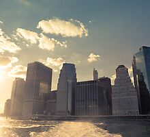 NYC Skyline - Sunset by Vivienne Gucwa