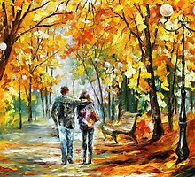 Going Home - Oil painting on Canvas By Leonid Afremov by Leonid  Afremov