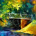Aura of Autumn 3 - Oil painting on Canvas By Leonid Afremov by Leonid  Afremov