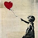 Banksy's Girl with a Red Balloon III by Ludwig Wagner