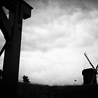 The Netherlands - Windmill before the storm by lesslinear