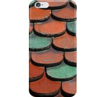 Teal and Tan Tiles iPhone Case/Skin