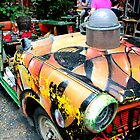 Budapest - Car In The Court Yard, Szimpla Kert by rsangsterkelly