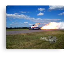 fire breathing jet semi Canvas Print