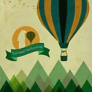 Hot Bear Ballooning by modernistdesign